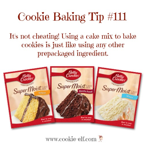 Using a cake mix to make cookies with The Cookie Elf
