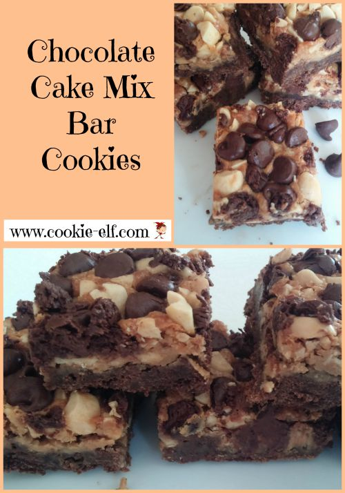 Chocolate Cake Mix Bar Cookies from The Cookie Elf