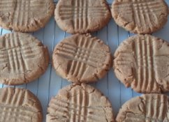 Jumbo Three Ingredient Peanut Butter Cookies from The Cookie Elf
