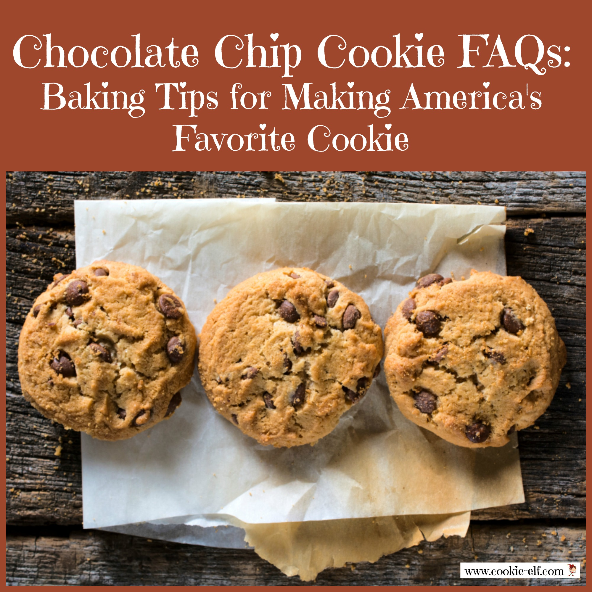 Chocolate Chip Cookie FAQs from The Cookie Elf