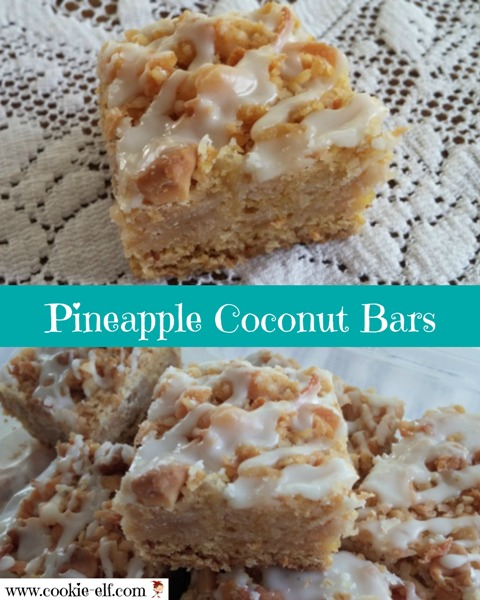 Pineapple Coconut Bars by The Cookie Elf