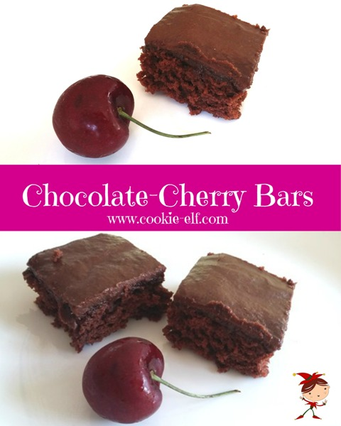 Chocolate-Cherry Bars from The Cookie Elf