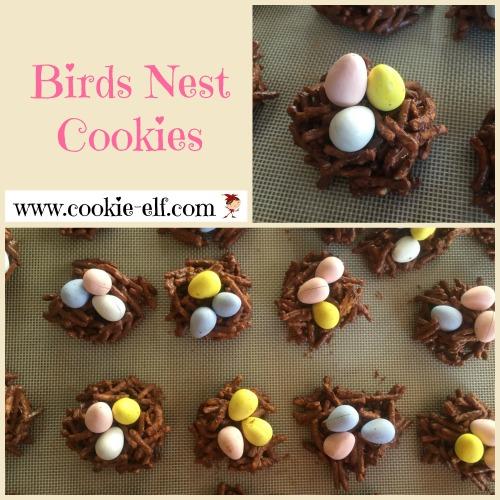 Birds Nest Cookies: easy no-bake cookie recipe from The Cookie Elf