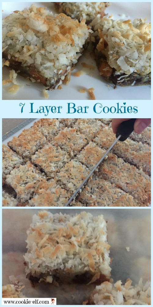 7 Layer Bar Cookies - no mixing! So easy. With The Cookie Elf