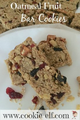 Oatmeal Fruit Bar Cookies with The Cookie Elf