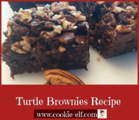 Turtle Brownies Recipe from The Cookie Elf