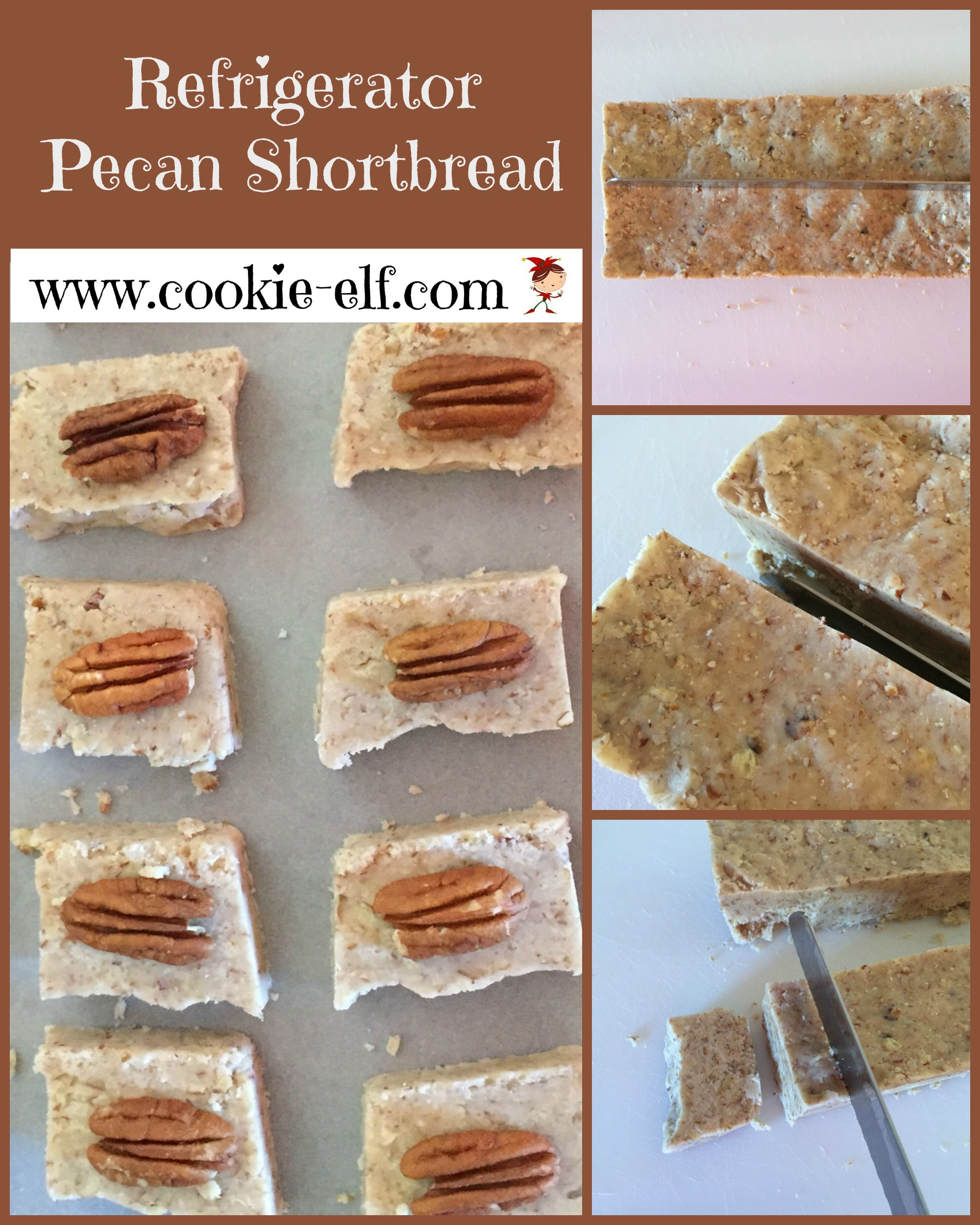 Refrigerator Pecan Shortbread from The Cookie Elf