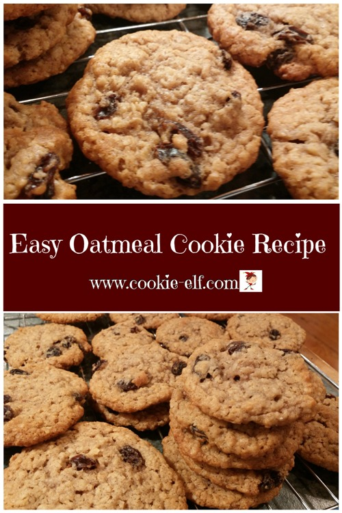 Easy Oatmeal Cookie Recipe from The Cookie Elf