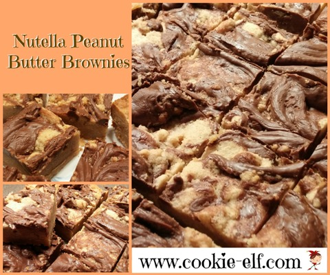 Nutella Peanut Butter Brownies from The Cookie Elf