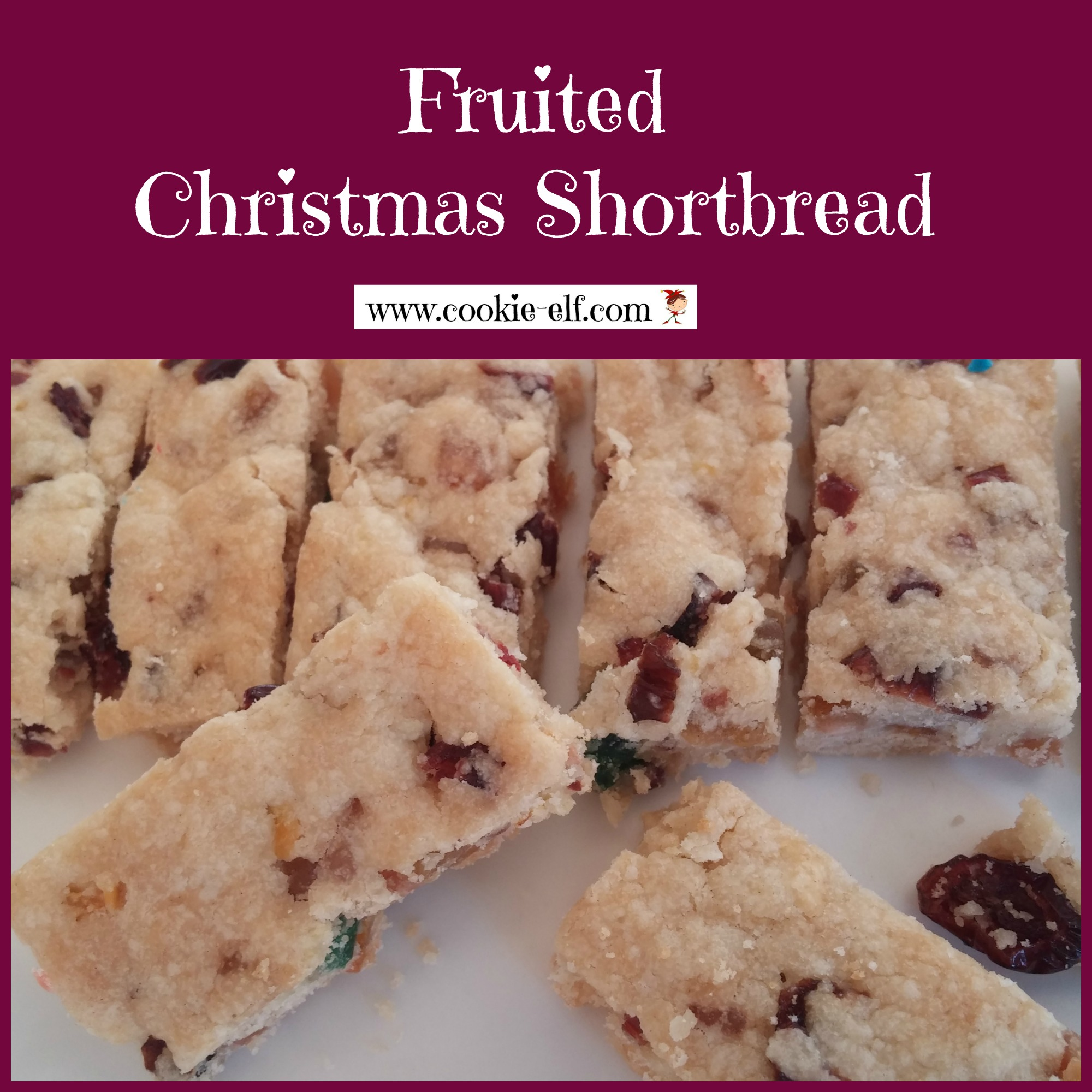 Fruited Christmas Shortbread from The Cookie Elf