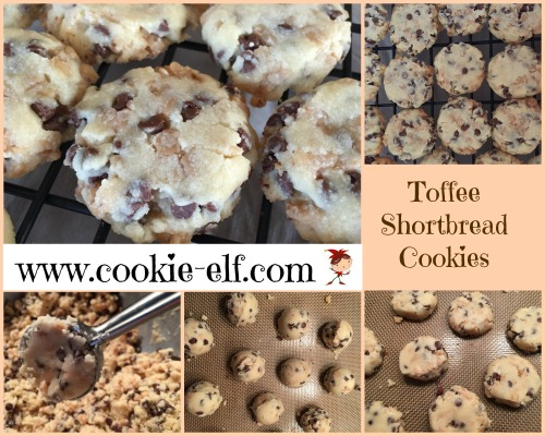 Toffee Shortbread Cookies from The Cookie Elf
