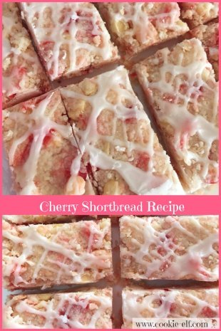 Cherry Shortbread Recipe with The Cookie Elf
