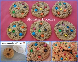 Monster Cookies from The Cookie Elf