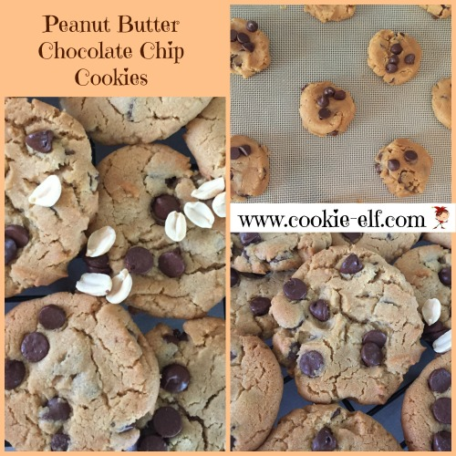 Peanut Butter Chocolate Chip Cookies with The Cookie Elf