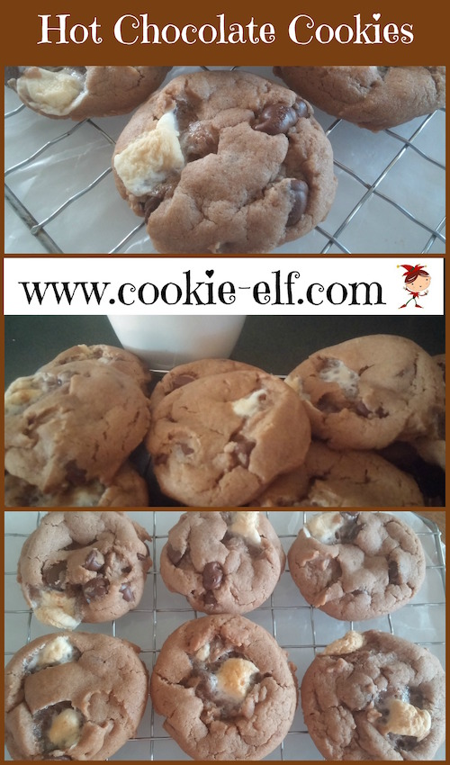 Hot Chocolate Cookies from The Cookie Elf