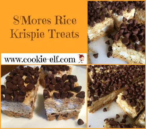 S'Mores Rice Krispie Treats with The Cookie Elf