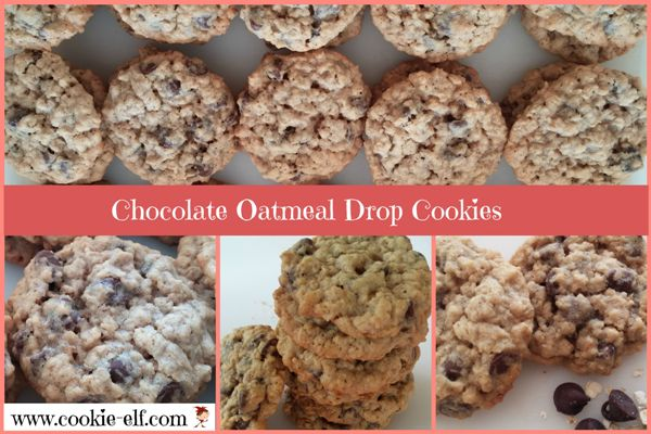 Chocolate Oatmeal Drop Cookies from The Cookie Elf