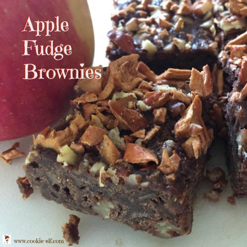 Apple Fudge Brownies with The Cookie Elf