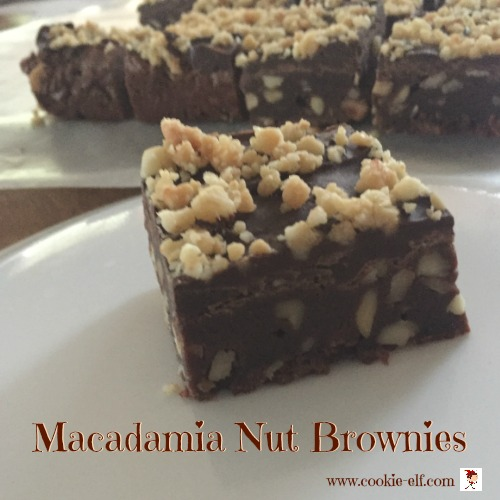 Macadamia Nut Brownies with The Cookie Elf