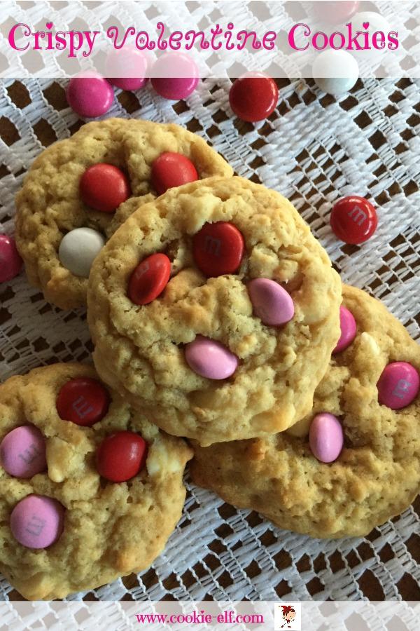 Crispy Valentine Cookies with The Cookie Elf