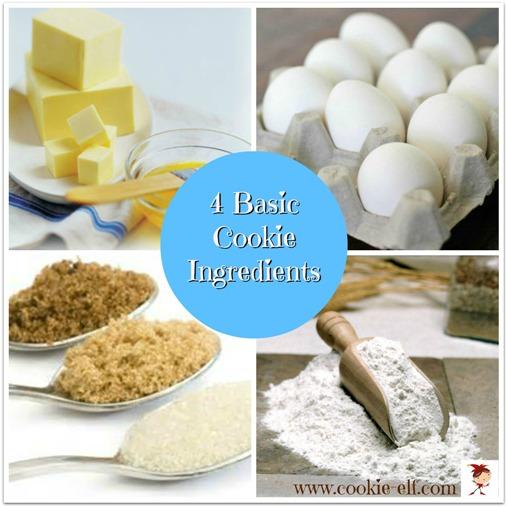 4 Basic Cookie Ingredients in Cookie Recipes