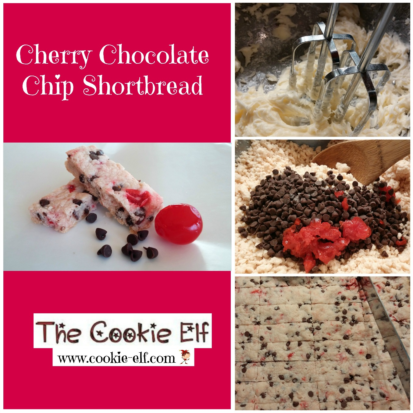Cherry Chocolate Chip Shortbread from The Cookie Elf