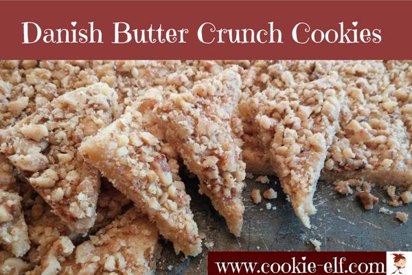 Danish Butter Crunch Cookies: an easy shortbread cookie recipe