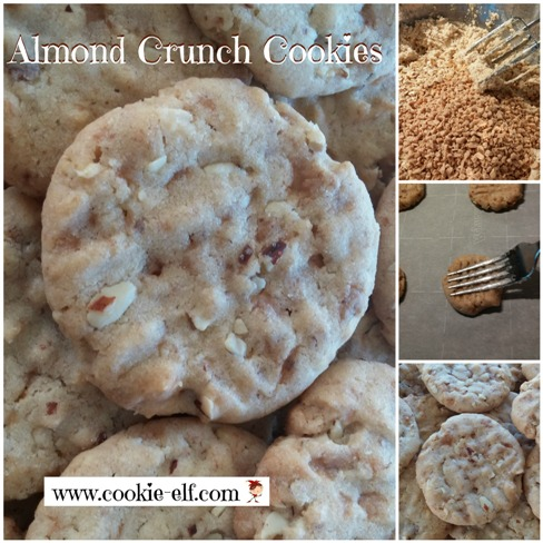 The Cookie Elf File] Almond Crunch Cookies: Easy Cookie Recipe from ...