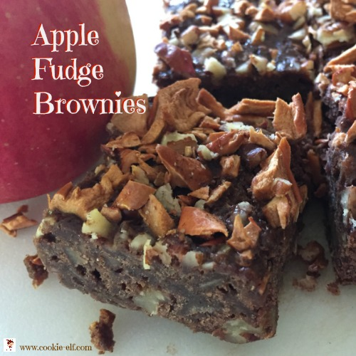 Apple Fudge Brownies with The Cookie Elf