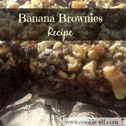 Banana Brownies Recipe with The Cookie Elf