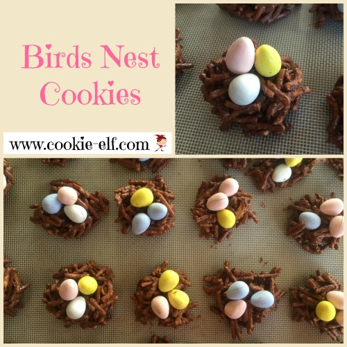 Birds Nest Cookies: easy no-bake cookie recipe from The Cookie Elf