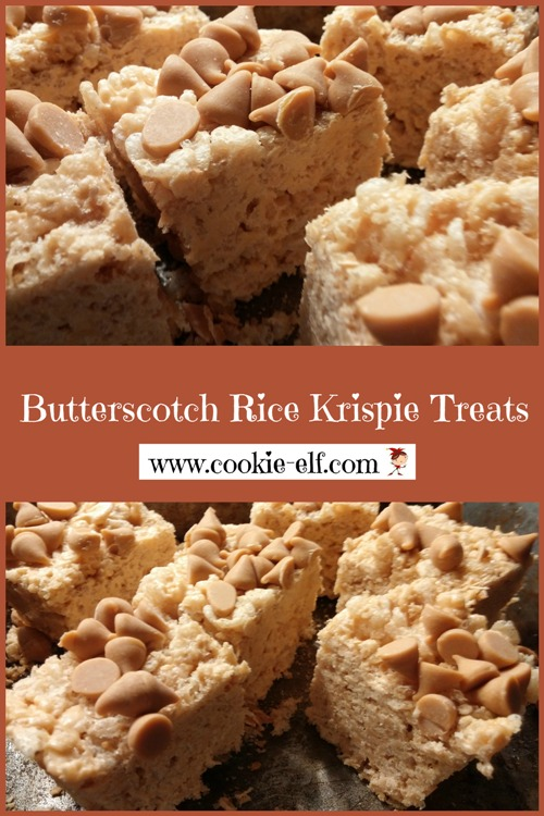 Butterscotch Rice Krispie Treats from The Cookie Elf
