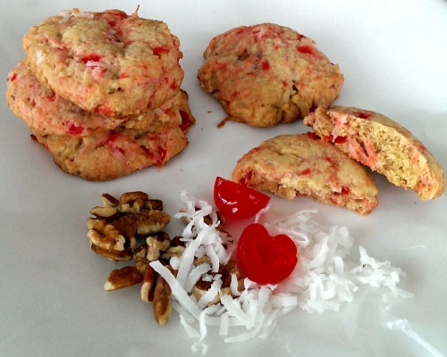 Cherry Coconut Cookies by The Cookie Elf