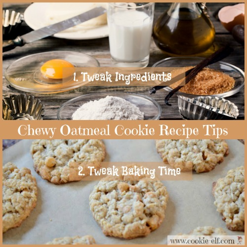 Chewy oatmeal cookie recipe baking tips with The Cookie Elf