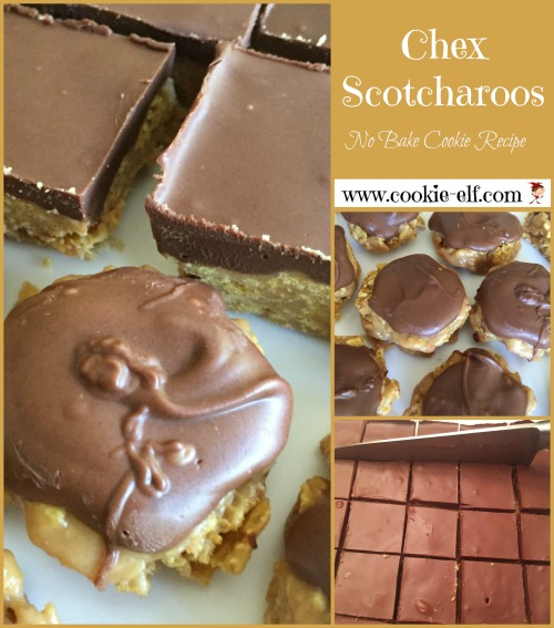 Chex Scotcharoos, no bake cookie recipe with The Cookie Elf