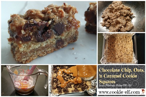Chocoalte Chip Oatmeal Caramel Squares from Pillsbury Bake-Off #37 by The Cookie Elf