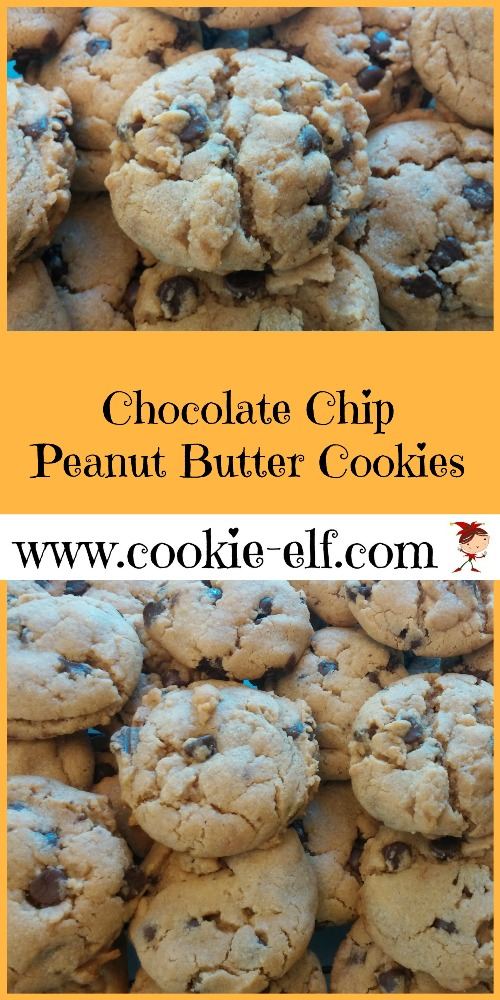 Chocolate Chip Peanut Butter Cookies from The Cookie Elf