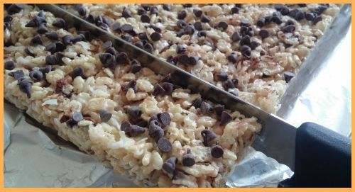 Chocolate Chip Rice Krispie Treats from The Cookie Elf