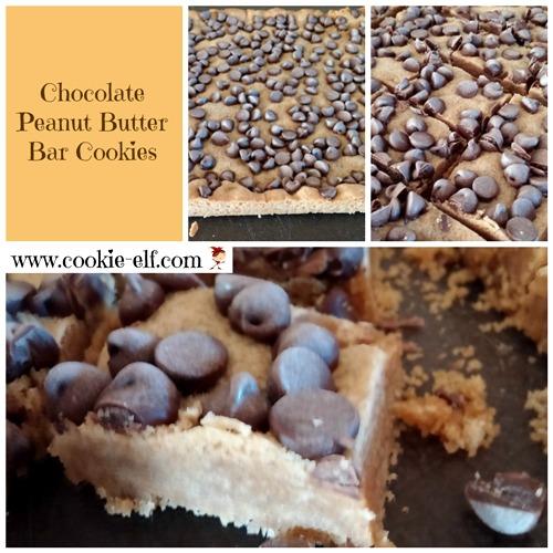 Chocolate Peanut Butter Bar Cookies