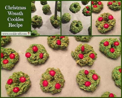 No Bake Christmas Wreath Cookies Recipe Easy Kids Christmas Cookie