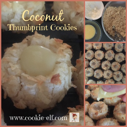 Coconut Thumbprint Cookies by The Cookie Elf