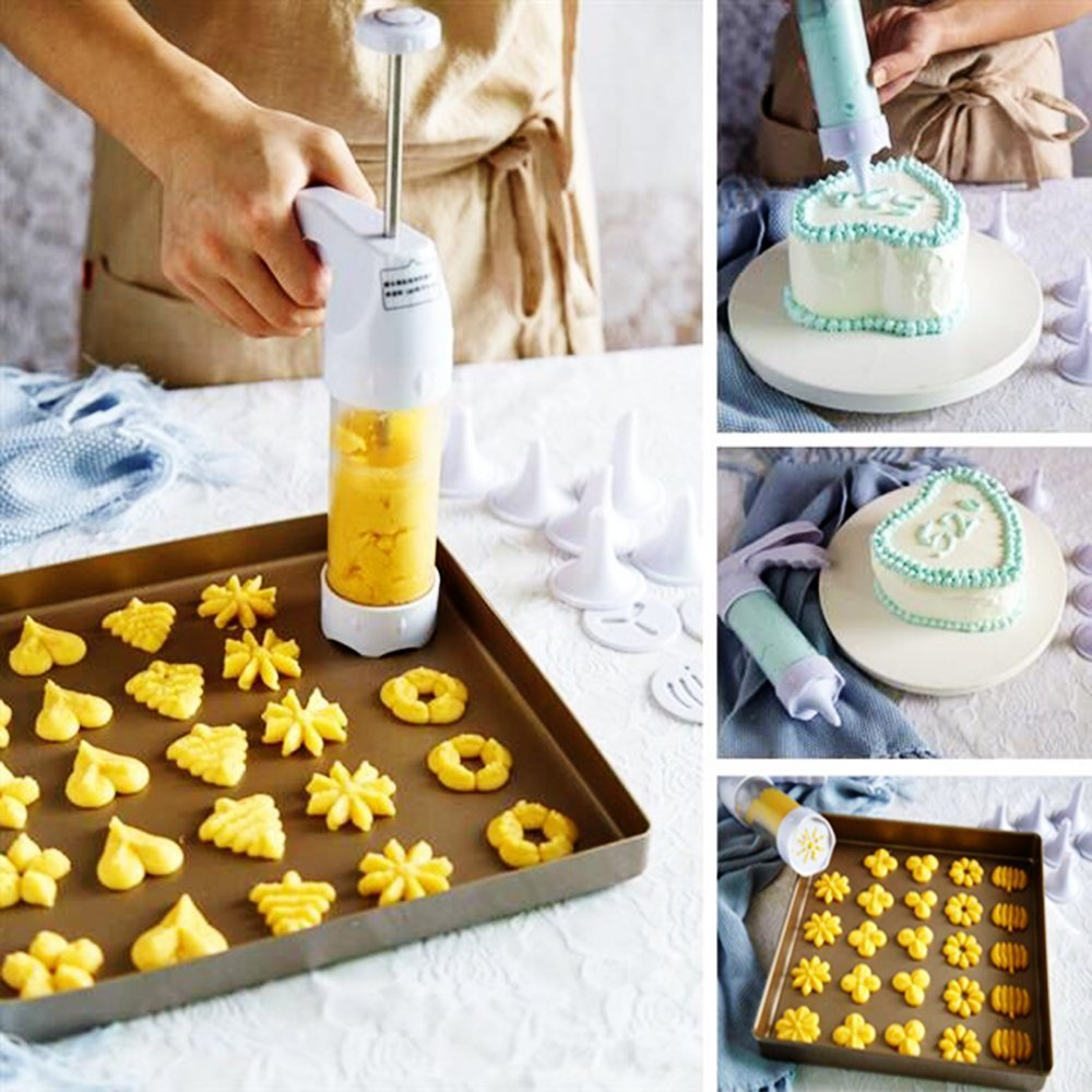 Pressed cookies are made with a cookie gun, also called a cookie press. With The Cookie Elf.