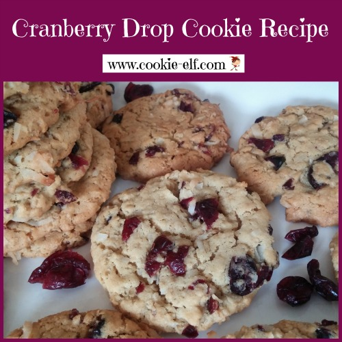 Cranberry Drop Cookies Recipe from The Cookie Elf