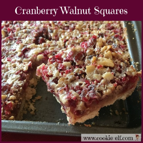 Cranberry Walnut Squares with The Cookie Elf