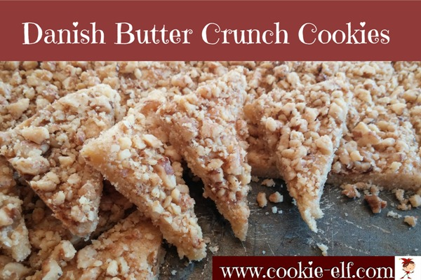 Danish Butter Crunch Cookies: an easy shortbread cookie recipe