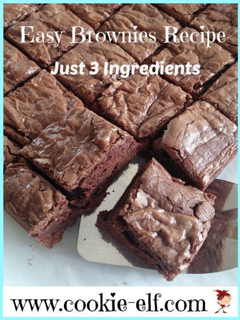 Easy Brownies Recipe: Just 3 Ingredients from The Cookie Elf