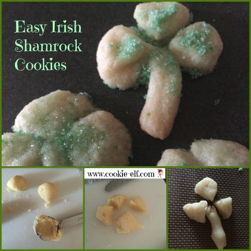 Easy Irish Shamrock Cookies from The Cookie Elf