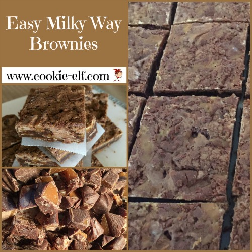 Easy Milky Way Brownies from The Cookie Elf