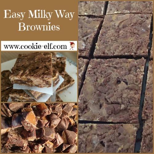 Easy Milky Way Brownies from The Cookie Elf