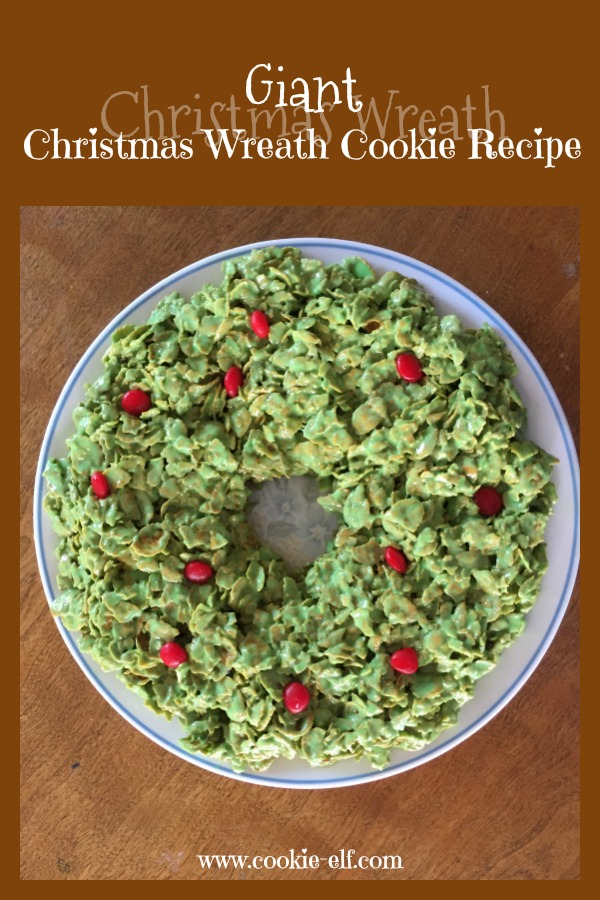 Giant Christmas wreath cookie recipe with The Cookie Elf